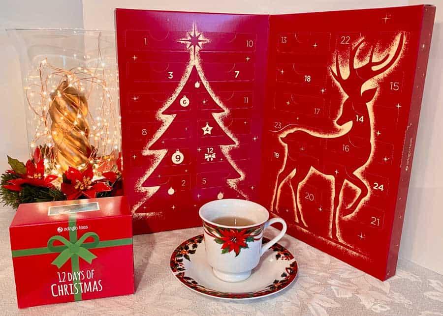 Count down to Christmas with Adagio Teas Advent Calendar or their wonderful '12 Days of Christmas' Tea Set. #mindoverlatte #tea #adagiotea
