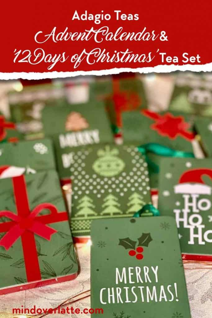 Counting down to Christmas with Adagio Teas Advent Calendar and '12 Days of Christmas' Tea Set 6