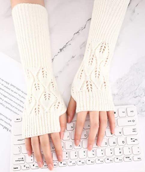 fingerless arm warmer - Mind Over Latte - winter self-care
