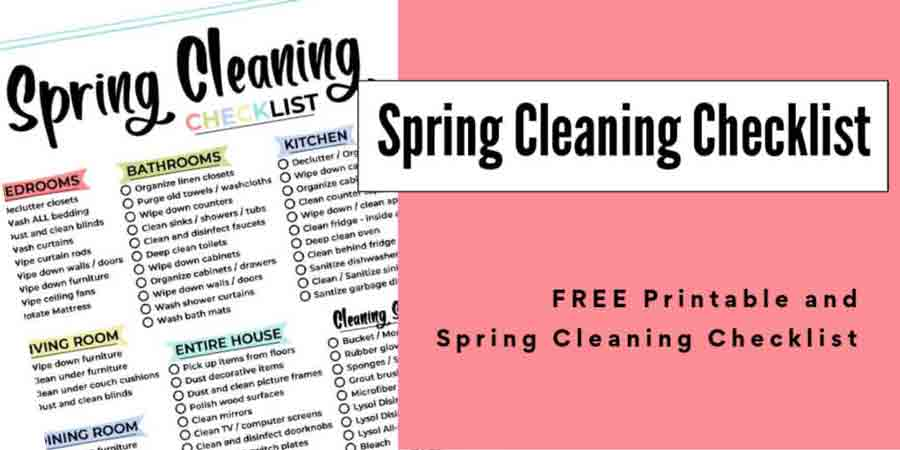 7 Free Printable Spring Cleaning Checklists You'll Love 4