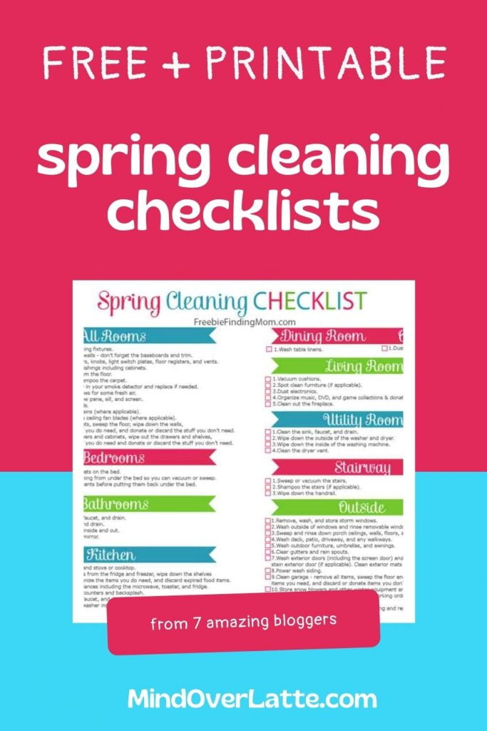 7 Free Printable Spring Cleaning Checklists You'll Love 6